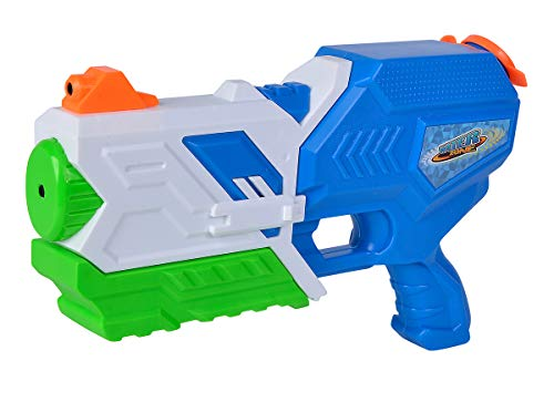Simba Waterzone Pump Trick Blaster-Pistola de Agua (Boquilla giratoria 180°, Doble Chorro, Mecanismo de Bombeo 750 ml, Alcance de 8 m), Color 1. (107276070)
