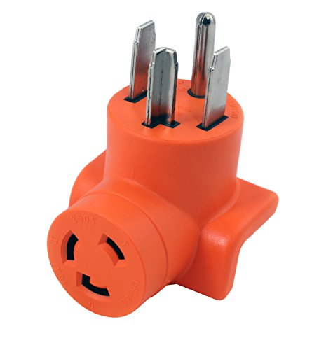 AC WORKS 30 Amp 4-Prong Dryer Wall Outlet Adapter (To L6-30 30A 250V Locking)
