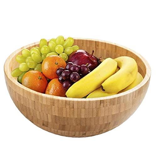 Ensalada De Bambú Ensaladera De Frutas Fideos Plato De Arroz Envase De Alimento Grande Pequeño Tazón De Fuente De Vajilla Niños Accesorios De Cocina 1pc