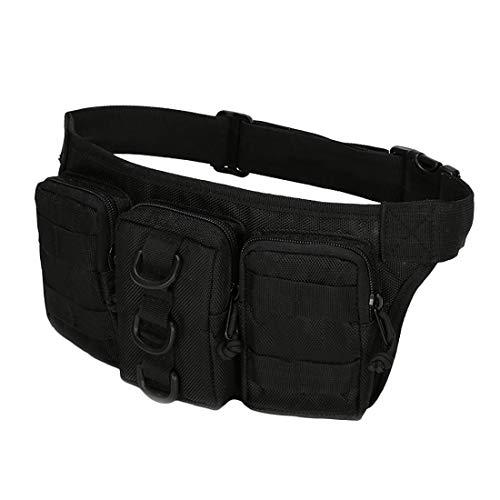 Aranticy Sacs de ceinture tactique militaire Oxford Pochette de ceinture Kit de premiers secours Outil de rangement pour magazines, sacs de rangement pour camping, randonnée, CS chasse Nerf