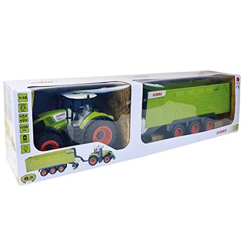 RC Auto kaufen Traktor Bild 2: Happy People 34425 , Claas Traktor Axion 870 RC Anhänger Cargos 9600*