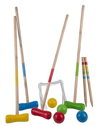 Engelhart - Krocketspiele aus Holz im Freien Gartenspiele Familienspiele - 604071