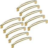 Margueras - 10 maniglie per mobili, cromate lucide, interasse di fori (96 mm, oro)
