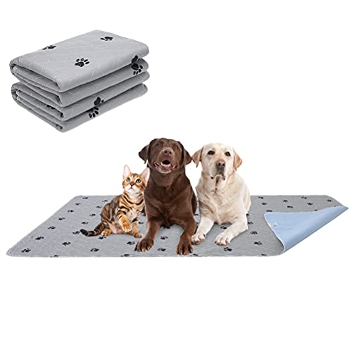 PUPTECK Washable Pee Pads for Dogs - 2 Packs Waterproof Reusable Puppy Potty Training Pads - Fast Absorption Non-Slip Pet Food Feeding Mat - Guinea Pig Pad for Small Animals
