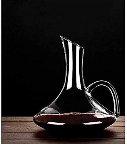 Decantador de vino de cristal hecho a mano, Skull Glass Vino Decantador de vinos y gafas Conjunto de vinos ANTER Accesorios con asa 1.5L Dispensador de cristal libre de plomo Whisky Brandy Aeroator Ro