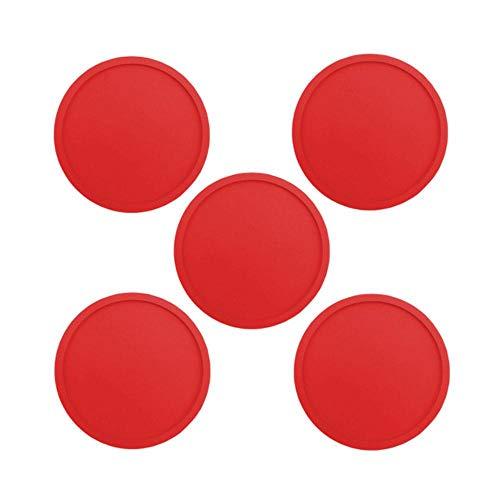 SEOLQX Juego de posavasos de silicona de color de 1/5/8 unidades, reutilizables, resistentes al calor, redondos, para vino, cerveza, cocina, posavasos, 5 unidades, rojo, nuevo, redondo