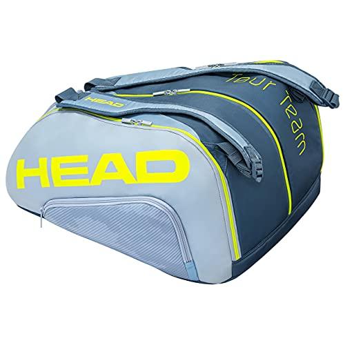 Head Tour Team Monstercombi Bolsa Tenis, Unisex-Adult, Gris/Amarillo, Largo-7 Palas de Padel