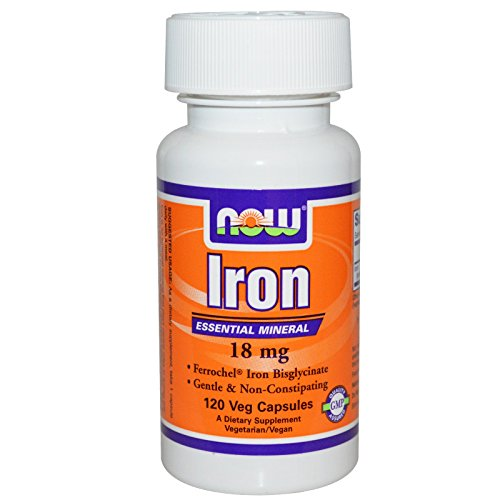 Now Foods Iron Ferrochel(r), 120 Vcaps 18 mg(Pack of 2)