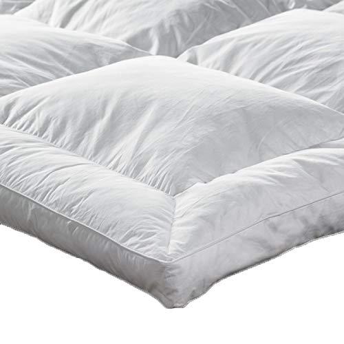 Lancashire Textiles Double White Goose Feather & Down 5 Cm Deep Mattress Topper Enhancer