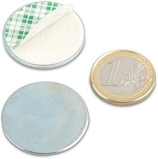 Metalen schijf Ø 30 met dubbelzijdige tape verzinkt primer voor magneten