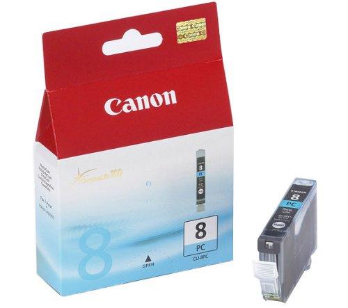 Canon CLI-8 PC original Tintenpatrone Foto Cian für Pixma Inkjet Drucker iP6600D-iP6700D-PRO9000-PRO9000MarkII