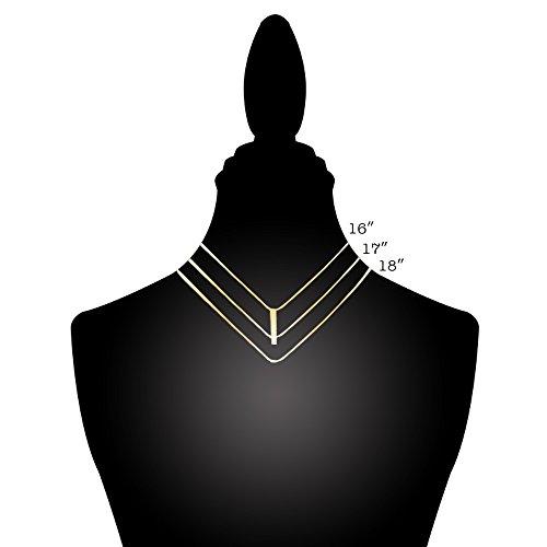 "Me Plus Inspirational ""MERMAID"" Positive Message Vertical Bar Pendant Necklace (Rose Gold, brass)"