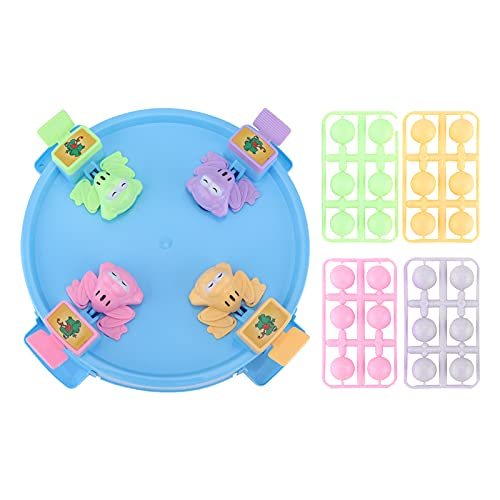 Hungry Frogs Game Family Board Game Juegos de mesa clásicos para niños de 3 años y mayores, 4 jugadores Juegos de mesa clásicos Divertidos juegos de escritorio(Plataforma azul de maca en chino)
