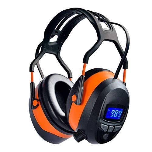 Gardtech - Auriculares de protección auditiva con radio Bluetooth FM, protección auditiva con NRR 29 dB, para hombres y mujeres, protección contra el ruido