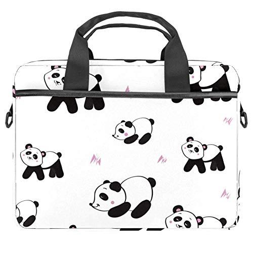 TIZORAX Laptoptasche Odd Panda Notebook Sleeve mit Griff 38,1 - 39,1 cm Tragetasche Schultertasche Aktentasche