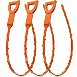 Drain Clog Remover,3 Pack Snake Clog Remover Tool,Drain Cleaner Tool for Sink,Tube Drain Cleaning,Hair Clog Remover.