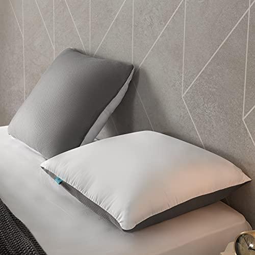 Naturalex   Ideal VISCO   Almohada OceanFibre Fresh 60x60 Cm   Pack x2 Almohadas   Ultra Transpirable   Relleno Fibras Huecas 100% Recicladas   Sensación Mullida y Confortable   Lavable
