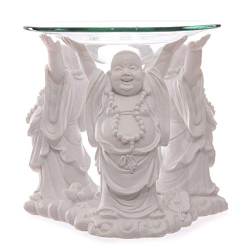 Puckator BUD183 Duftölbrenner, Design: tibetanische Mönche, Weiß