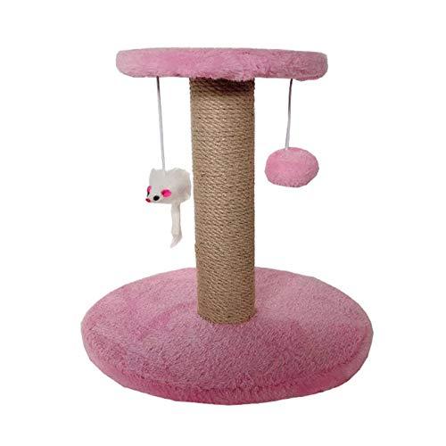 POHOVE Tiragraffi per gatti, condominiali, gattini, torre di attività per animali domestici, gattino, giocattolo per giocare e giocare a torre, rilassarsi, dormire, animale domestico divertente (rosa)