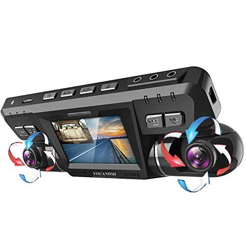 YOUANDMI Dashcam,2160P UHD WiFi Vorne und Hinten Dual Kamera 170 Grad Weitwinkel Dashcam Auto mit WDR, Nachtsicht Lens,Bewegungserkennung,Audio,G-Sensor für Auto Parküberwachung