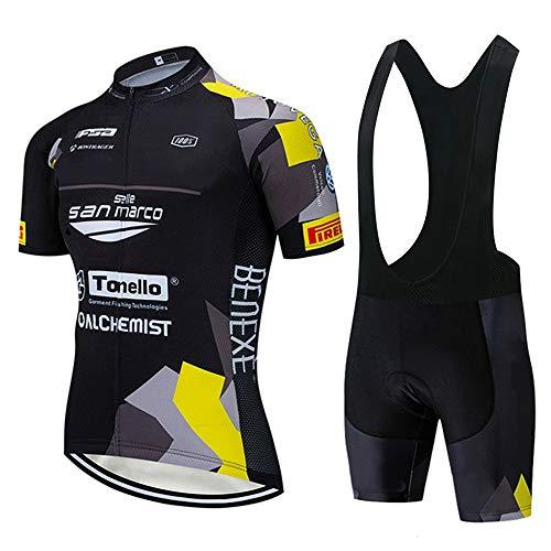 STEPANZU Maillot Ciclismo Verano Hombre MTB Ropa + Culote Pantalones Cortos Conjunto...