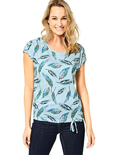 Cecil Damen 315011 T-Shirt, Multicolor Melange, Medium