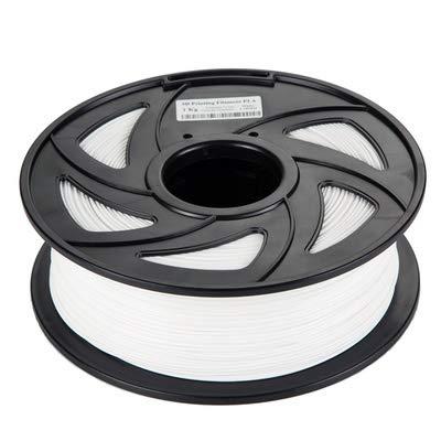 JIALUN ZFX-DAYIN, 1pc 3D-Drucker PLA Filament Druckmaterialien bunt for 3D-Drucker Extruder Pen Regenbogen Kunststoff Zubehör 1KG 1.75mm (Color : White)
