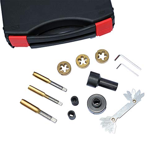 12PC Tap and Die Set for Wheel Studs & Nuts, Thread Repair Tool Kit with Plastic Tool Case Thread Repair Tool Kit (M12x1.25 M12x1.5 M14x1.5)