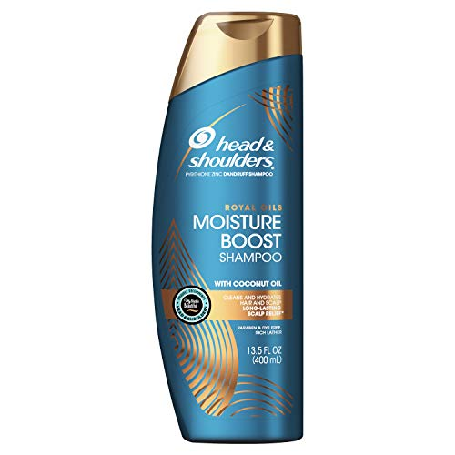 Head and Shoulders Shampoo, Moisture Renewal, Anti Dandruff Treatment and Scalp Care, Royal Oils Collection with Coconut Oil, for Natural and Curly Hair, 13.5 fl oz