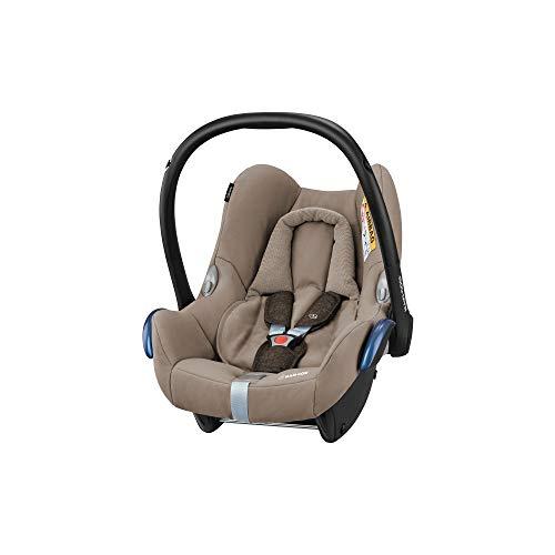 Maxi-Cosi CabrioFix Babyschale, Baby-Autositze Gruppe 0+ (0-13 kg), nutzbar bis ca. 12 Monate, passend für FamilyFix-Isofix Basisstation, Nomad Brown (braun)