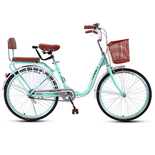 JXXU Vélo de ville léger de 61 cm, 7 vitesses, vélo pour adulte, vélo pour femme et vélo...