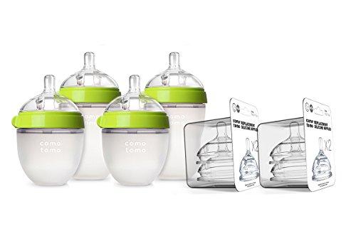 Comotomo Newborn Bottle Set Green