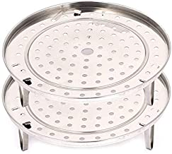 Stainless Steel Steamer Rack 2pcs - Insert Stock Pot Thick Steaming Tray Stand Cookware Tool (9.4inch/24cm)