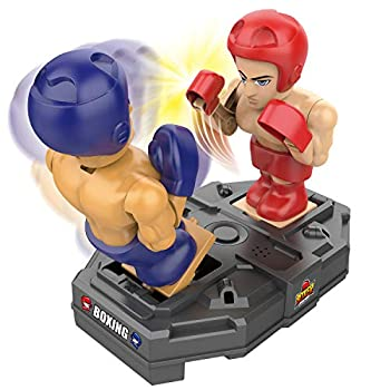 iPlay iLearn Electronic Punching Boxing Game Toy Cool Battle Board Game RC Fighting Robots W/ Sounds Hand Operated Sports Playset Indoor Birthday Gifts for 4 5 6 7 8-12 Year Old Boys Kid Child