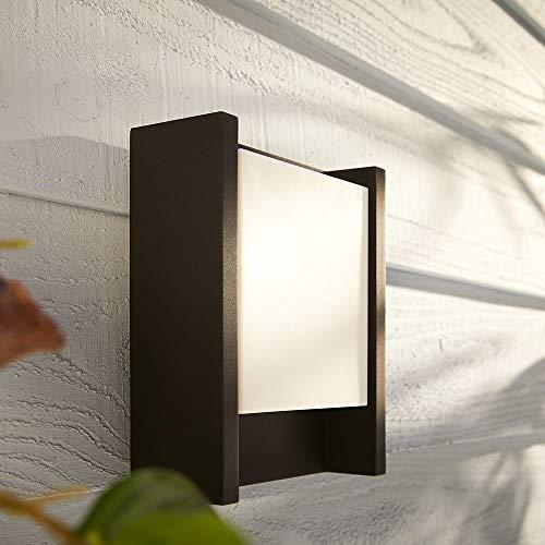 Philips Hue White Fuzo wandlamp, zwart, langwerpig, wandlamp voor buiten, dimbaar, warmwit licht, bestuurbaar via app, smartphone en tablet