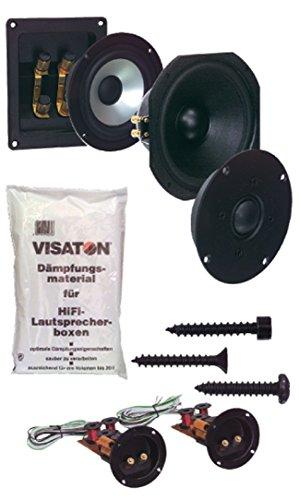Visaton Couplet Kit - Lautsprecher (2.0 Kanäle, 120 W, 38 – 30000 Hz, 4 Ohm, Holz)