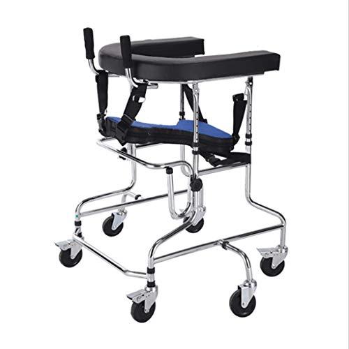 Rollatoren Zubehör Walker-Kind-Wanderer Kinder Paralysis Rehabilitation Übung Behinderte Adjustable Walker Edelstahl (Color : Silver, Size : 100 * 63 * 77cm)