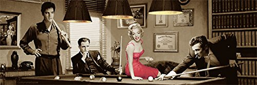 Laminated Legal Action by Chris Consani Marilyn Monroe Elvis James Dean Print Poster 36x12