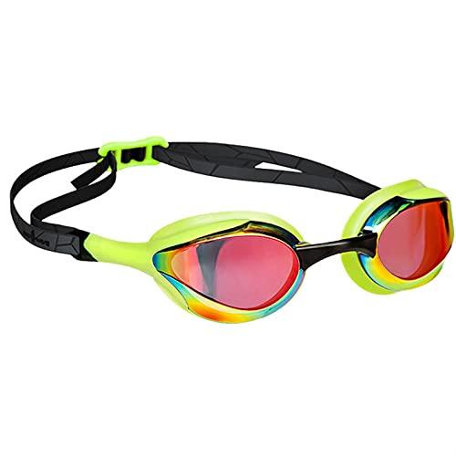 siqiwl Gafas de Natación Clasificación Profesional Anti-Niebla Racing Outdoor Racing Natación Gafas Impermeables UV Protección Gafas de natación