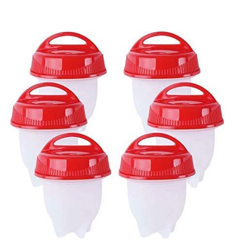 AMZ Innovation - Lot de moules à œufs, cadeau de fête des mères - œufs à la coque et cuits durs - antiadhésif en silicone, sans BPA - Coquetiers, pocheuses à œufs