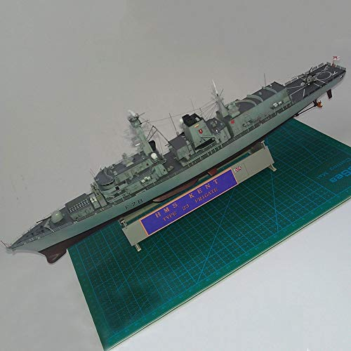 DANADESK Assembled Battleship Model, 1:350 British Royal Navy Type 23 Frigate Kent Warship Models, Simulation WW II Collectibles (Color : Kent, Size : 54.8 x 6.5cm)