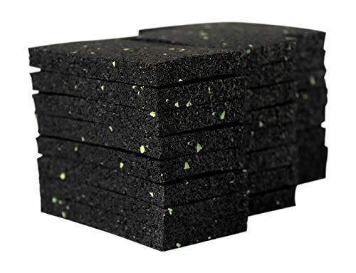 100 Stück 10 mm 90 x 90 mm Terrassenpad, Terrassenpads, Gummigranulat, Terrassenbau