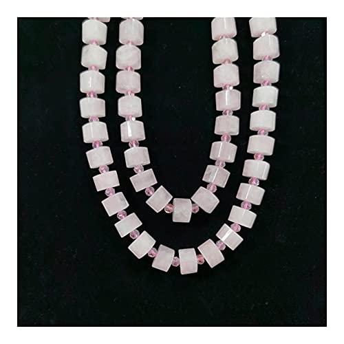 DFUF Hermoso Regalo 10x15mm Rosa de Cuarzo de Cuarzo Granos de Piedra Piedras Preciosas Perlas de joyería Hecho Pulseras Collares Pendiente Colgantes