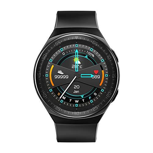 Leslaur 1,28 Zoll Smart Watch BT Musikanruf Armband Herzfrequenz Blutdruckmessung Multisport Wissenschaftlicher Schlaf Bewegungsmangel Erinnerung Sprachaufzeichnung IP67 wasserdichte