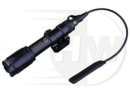 Emerson Airsoft CREE Torch Flashlight Weapon Light SUREFIRE M600 Style Black TOMTAC