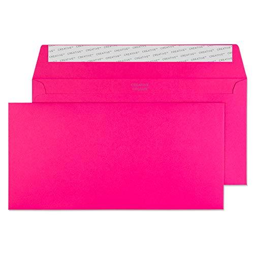 Creative Colour 25242 Farbige Briefumschläge Haftklebung Schockierendes Pink DL+ 114 x 229 mm 120g/m²   25 Stück