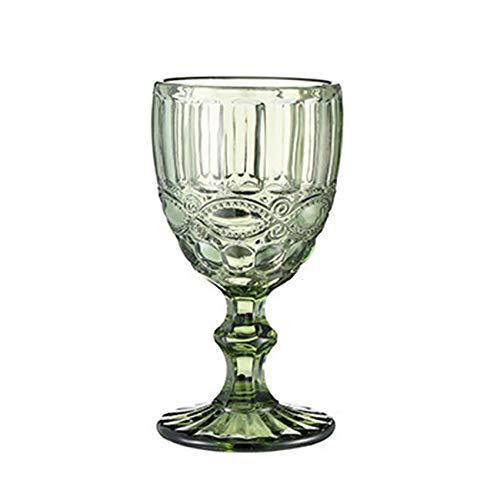 Rcsinway 1 unid Colorido champán Taza de Vidrio Tazas de Vidrio Tazas de Whisky de Cristal Escultura Jugo de Jugo de Cristal Copa de Vino Cristal Cristal Gafas de Fiesta (Capacity : 300ml, Color : D)