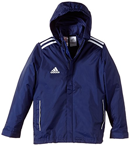 adidas Jungen Bekleidung Core 11 Regen Jacke Junior Regenjacke, marine/weiß, 128