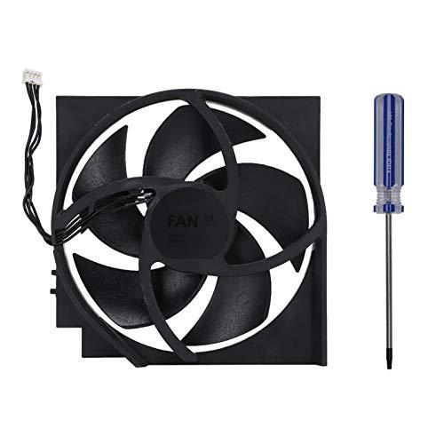 Ventilador de refrigeración interno de ABS duradero, ventilador de refrigeración interno con destornillador para Xbox ONE S, OEM 5 cuchillas de 4 pines, ventiladores de refrigeración turbo de repuesto