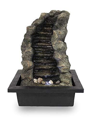 Kiom Tischbrunnen Zimmerbrunnen FoStream sehr groß mit 44 cm LED 10872